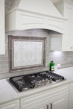 Induce an expansive picturesque look to your living space with the addition of this excellent MSI Dove Gray Handcrafted Glazed Ceramic Wall Tile. Kitchen Redo, Kitchen Tiles, Kitchen Styling, Kitchen Cabinets, Kitchen With Subway Tile, Metal Cabinets, Kitchen Small, Dark Cabinets, Stove Backsplash