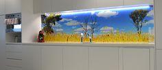 Print an Image onto a Glass Splashback   Prints on Glass