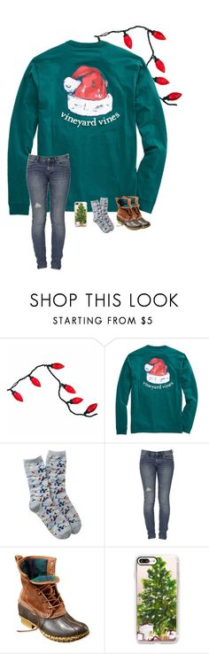 """25 Days Till Christmas!"" by brookespreppy ❤ liked on Polyvore featuring Free Press, Ksubi, L.L.Bean, Casetify, casual, Boots, december and vinyardvines"
