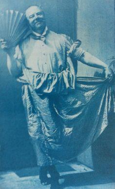 Edward Linley Sambourne (brilliant and slightly eccentric Punch cartoonist). Self-portrait in apron, 19 July 1894.