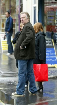 Alan Rickman - out and about with Rima .... I need to find the date and location for this.