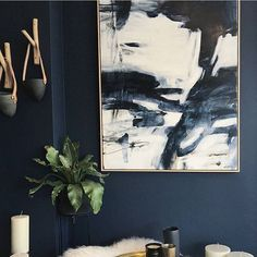 Loving this amazing @jasminzaraart #painting via The Design Hunter in Sydney.  #artwork #instahome #interiordesign #designfabulousau