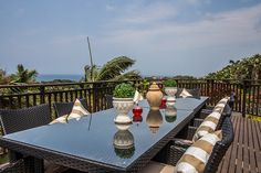 Enjoy the balmy weather with breakfast on the deck and the ocean in the background