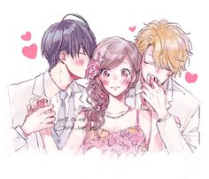 More galleries of anime love triangle Anime Couples Manga, Cute Anime Couples, Anime Guys, Couple Manga, Anime Love Couple, Manga Drawing, Manga Art, Anime Love Triangle, Manga Anime