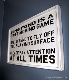 Painted Therapy: Ping Pong Sign