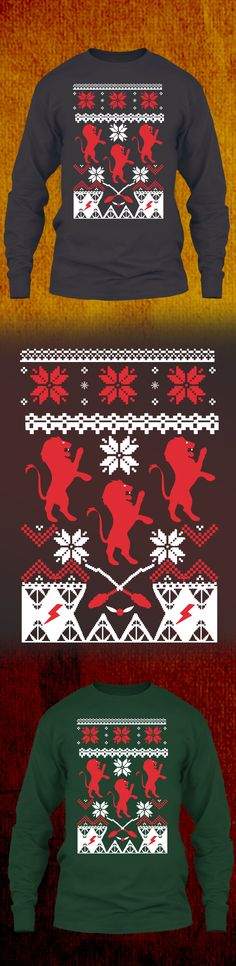 Hogwart Christmas Sweater Gryffindor - Get this limited edition ugly Christmas Sweater just in time for the holidays! Only 2 days left for FREE SHIPPING, click to buy now!