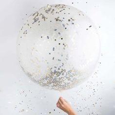 Metallic Confetti Balloon