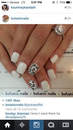snow leopard Shellac nails