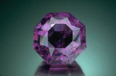 An octagonal-cut amethyst of 36.20 ct from the National Gem Collection, photo by Chip Clark