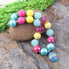 Easter Egg Chunky Bubblegum Necklace