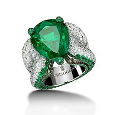 #deGRISOGONO high jewellery emerald and diamond ring #Craftsmanship