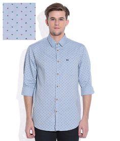 Arrow Sports Blue Regular Fit Casual Shirt