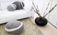 love the stone pillows