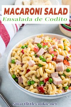 Guys, let me tell you about this salad! #ad This Macaroni Salad (Ensalada de Coditos) is quick, easy and absolutely delicious! It can be made in 15 minutes and it's great to feed a crowd. Even better, it's made with @mccormickspice Mayonesa with Lime Juice. Using Mayonesa is a simple way to liven up your favorite dishes! Smart Little Cookie @smartlilcookie #mccormickspice #macaronisalad #easymacaronisalad #latinrecipes #partyfood #familydinner #potluckrecipes #smartlittlecookie Easy Salad Recipes, Potluck Recipes, Vegan Recipes Easy, Side Dish Recipes, Summer Recipes, Appetizer Recipes, Cooking Recipes, Delicious Recipes, Holiday Recipes