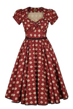 Lena Hoschek dress: gorgeous form, and if you look at the bottom it's either black piping or the bottom of black crinolines, either way, it makes it a much better dress than it already is