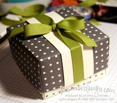 cute polka dot box