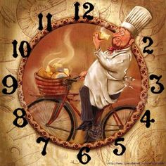 clock face Visual search will show numerous other click faces from this artist Chef Pictures, Fancy Watches, Diy Clock, More Wallpaper, Caravaggio, Decoupage Paper, Kitchen Art, Vintage Paper, Vintage Images