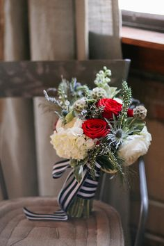 red, white, and blue bouquet | Jillian Zamora