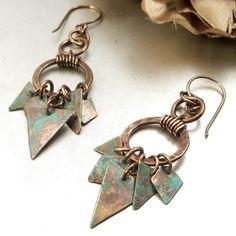 Wire Wrapped Handmade Jewelry Earrings Tribal by ArtNSoulJewels