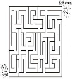 Joseph and Mary Escape to Egypt Maze