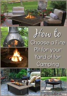 How to Choose a Fire Pit for your Yard of for Camping