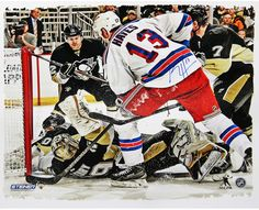 Kevin Hayes Signed New York Rangers Overtime Goal Against Marc Andre-Fleury 22x26 Canvas