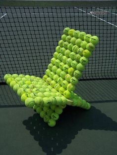 contemporary furniture, chairs made with tennis balls