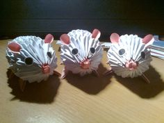 3D origami mouses by ~Michaelle111 on deviantART