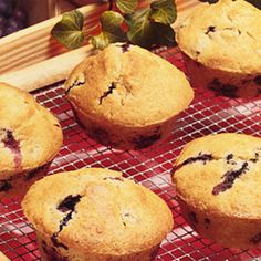 Blueberry Muffins    Check out this sugar-free muffin, the perfect solution for your morning sweet tooth. Fresh blueberries are best here, but you can also thaw and drain frozen ones; either way they are rich in antioxidants.
