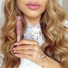 """Lovely"" lips was today's choice for #IMATSPRO day #Anastasiabeverlyhills Liquid lipsticks XOX #Padgram"