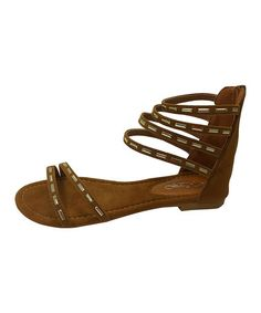Another great find on #zulily! Camel Gladiator Sandal #zulilyfinds