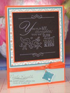 In My Heart Chalkboard Card - I Saw It On Pinterest #7 @ Under the Inkfluence    Http://www.undertheinkfluence.com