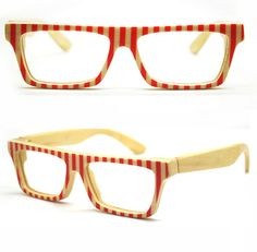 a11a917ee4 Items similar to World s First Bamboo Red Stripes Takemoto Love-color  Handmade Glasses on Etsy