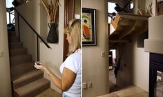 Is this real life!? I've always wanted a secret passageway! So cool! Unneccessary haha, but cool!
