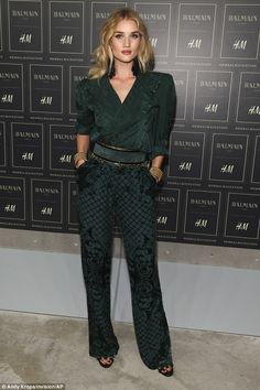 Rosie Huntington-Whiteley stuns at Balmain X H&M launch #dailymail