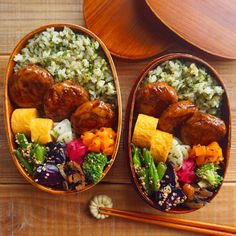 Idk what that brown thing is but other than that yanz Bento Kawaii, Lunch Recipes, Healthy Recipes, Exotic Food, Bento Box Lunch, Food Menu, Asian Recipes, Food Inspiration, Food Porn