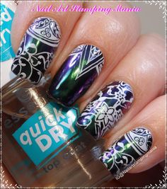"Nail Art Stamping Mania: Multichrome Manicure with Cici&Sisi ""Islamic Buildings 03"" Plate - Swatches And Review"