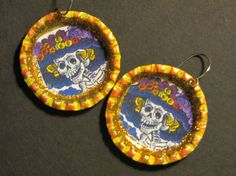 Day of the Dead Earrings, Dia de los Muertos earrings, handmade jewelry and wearable art by Sonoma Artistry