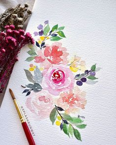 Random doodles this weekend for self care. I'm always grateful to be able to fal… Random doodles this weekend for self care. I'm always grateful to be able to fall back on watercolour when things get tough 💛 other times,… – Watercolor Lettering, Watercolor Cards, Watercolor Flowers, Watercolour Illustration, Watercolor Projects, Watercolor Ideas, Arte Floral, Painting & Drawing, Art Drawings