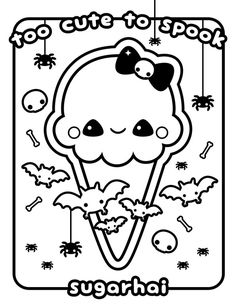 Free Ice Cream Cat Coloring Page   Free kids coloring ...