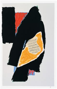 Robert Motherwell, Black for Mozart, 1991, Lithograph, 64 x 41 cm,