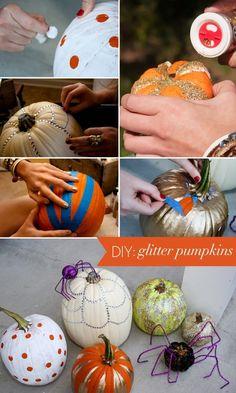 DIY Glitter Pumpkin