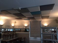 Restaurant De Gieser Wildeman Acoustic Panels, Track Lighting, Restaurant, Ceiling Lights, Building, Home Decor, Decoration Home, Room Decor, Diner Restaurant