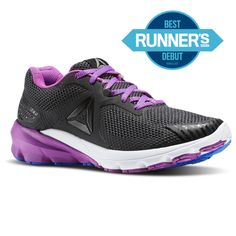 2265abaf8 Reebok Females Harmony Road in Black   Coal   Vicious Violet   Vital Blue  Size 7 - Running Shoes