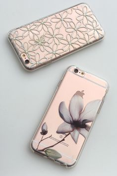 Iris & Lily Cases. Both are now using our newest case design that wraps around the entire phone & rises past the screen for full protection. From Elememtal Cases