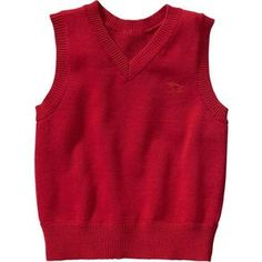 Old Navy Sweater Vests For Baby Size 12-18 M - Robbie red