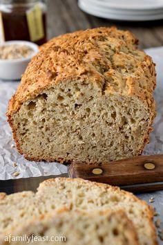 Steel Cut Oatmeal Honey Bread @FoodBlogs