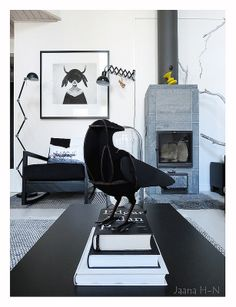 The Mound II by Ruben Ireland. Ibride Gustav raven. Interior Decorating, Interior Design, Scandi Style, Interior And Exterior, Halloween Decorations, Giclee Print, Black And White, Prints, Inspiration