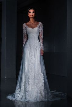 Shared > Lace A-line Wedding Dress With Sweetheart Neckline ;D