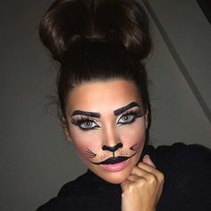 Cute Halloween Cat Makeup Look